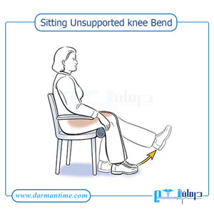 Sitting Unsupported knee Bend
